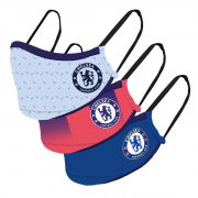 Chelsea 3 Pack 20-21 Kit Face Coverings - Blue/Navy - Adults
