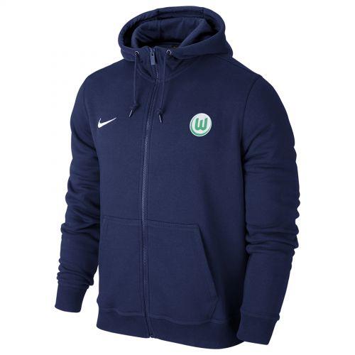 VfL Wolfsburg Full Zip Hoodie - Blue - Kids