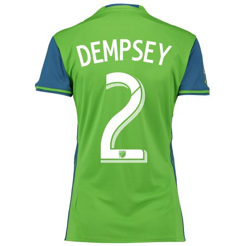 Seattle Sounders Home Shirt 2016 - Womens with Dempsey 2 printing
