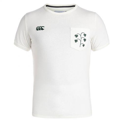 Ireland Rugby 1874 Shamrock Pocket T-Shirt Cream