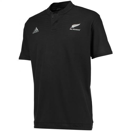 All Blacks Rugby Anthem Short Sleeve Polo Black