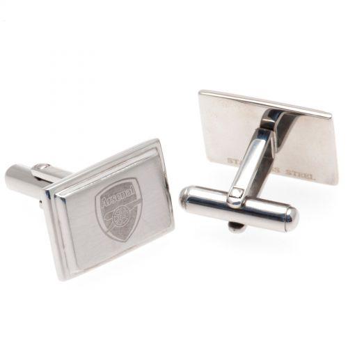 Arsenal Rectangle Crest Cufflinks - Stainless Steel