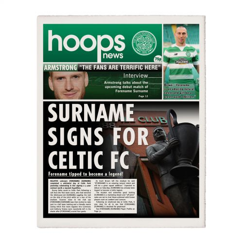 Celtic Personalised Newspaper Single Page