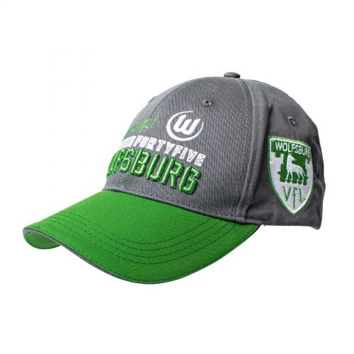 VfL Wolfsburg Mesh Cap - Grey/Green - Adult