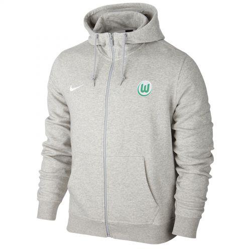 VfL Wolfsburg Full Zip Hoodie - Grey - Kids