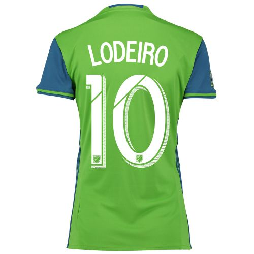 Seattle Sounders Home Shirt 2016 - Womens with Lodeiro 10 printing
