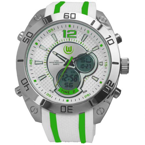 VfL Wolfsburg Analogue-Digital Watch - White-Green