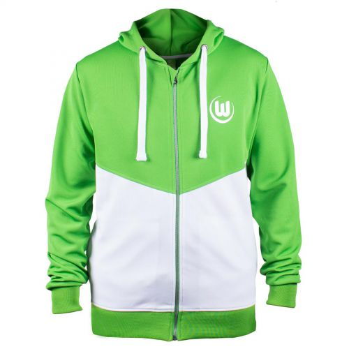 VfL Wolfsburg Shower Jacket - Green/White - Boys