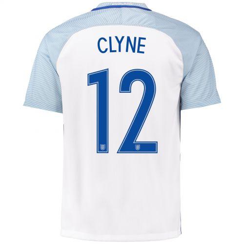 England Home Shirt 2016 with Clyne 12 printing