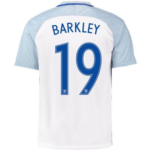 England Home Shirt 2016 with Barkley 19 printing