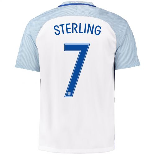 England Home Shirt 2016 with Sterling 7 printing