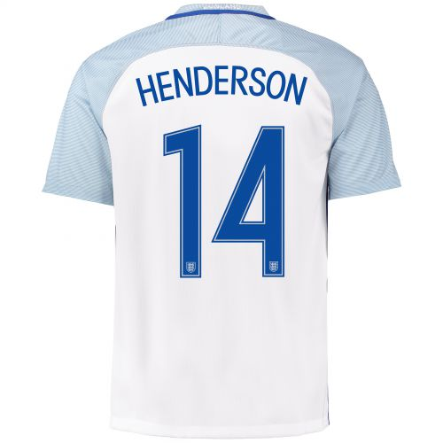 England Home Shirt 2016 with Henderson 14 printing