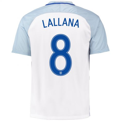 England Home Shirt 2016 with Lallana 8 printing