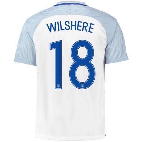 England Home Shirt 2016 with Wilshere 18 printing
