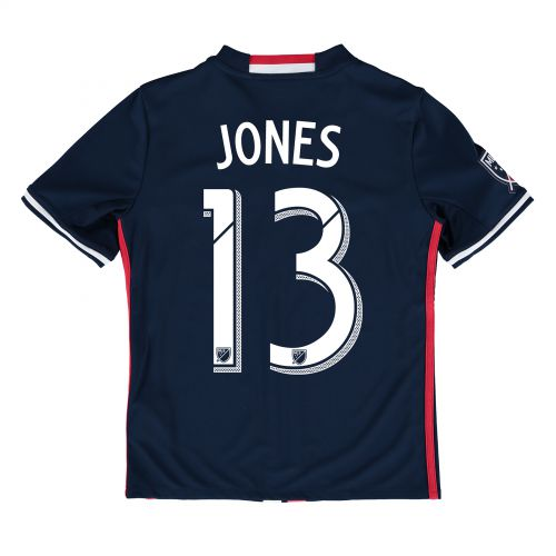 New England Revolution Home Shirt 2016 - Kids with Jermaine Jones 13 printing