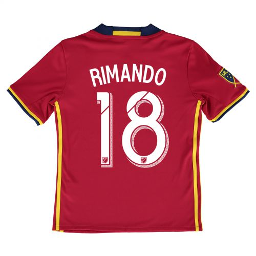 Real Salt Lake Home Shirt 2016 - Kids with Nick Rimando 18 printing