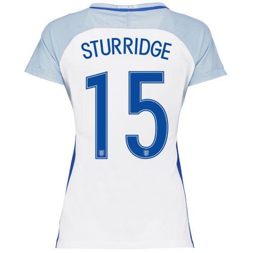 England Home Shirt 2016 - Womens with Sturridge 15 printing
