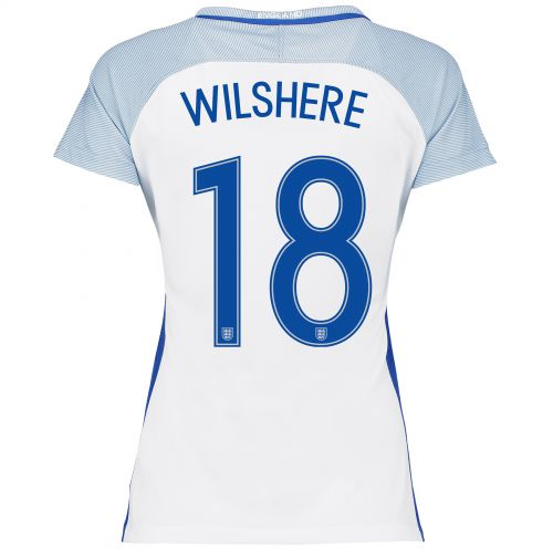 England Home Shirt 2016 - Womens with Wilshere 18 printing