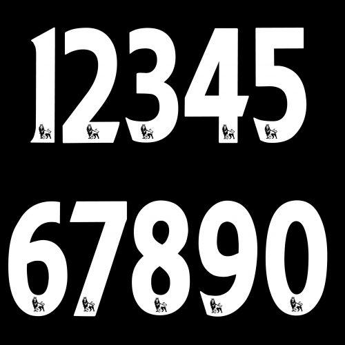 Names&Numbers Official FA Premier League Senscilia 258mm Adult Number White