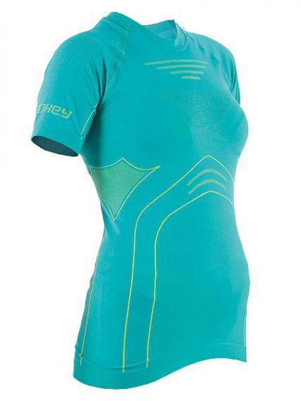 Spokey Дамска термо тениска Drift - Зелено