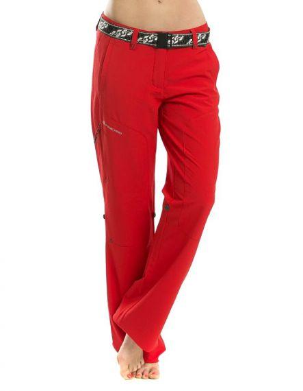 Alpine Pro Дамски софтшел панталон HYPSEUS - Червено
