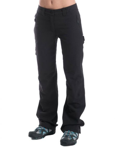 Alpine Pro Дамски софтшел панталон MURIA - Черно