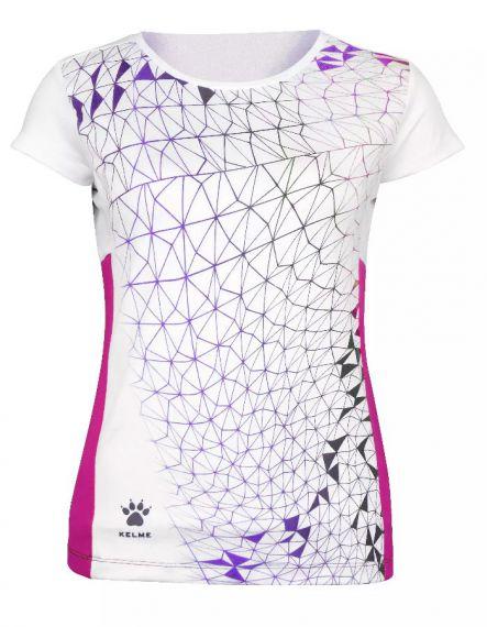 Kelme Тениска SRA Women Tennis Tshirt 74912-107 Navy - Бяла