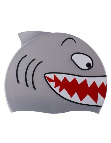 Spurt Детска шапка за плуване Shark - Сиво
