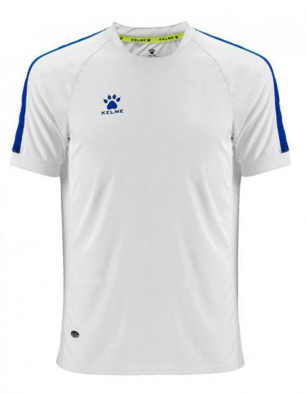 KELME Тениска Global S/S Jersey JR 78162-6 White - Бяло