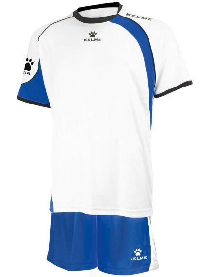 KELME Детски Футболен екип Cartago Set JR 78411-704 White Royal - Бяло