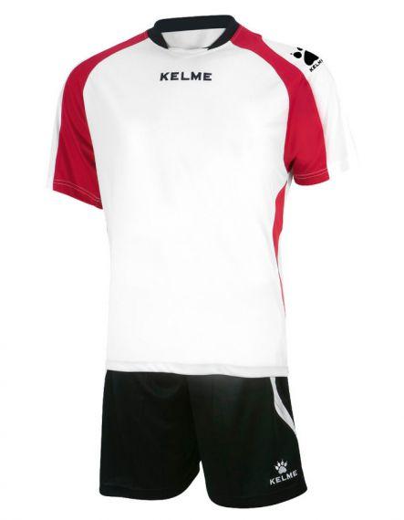 KELME Футболен екип Saba Set SR 78412-140 White Red - Бяло