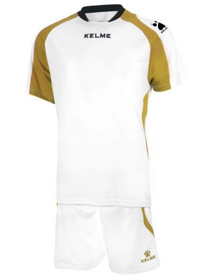 KELME Детски Футболен екип Saba Set JR 78412-630 White Gold - Бяло