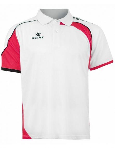Kelme Блуза с къс ръкав Cartago S/S Polo 78413-140 White Red - Бяло/Червено