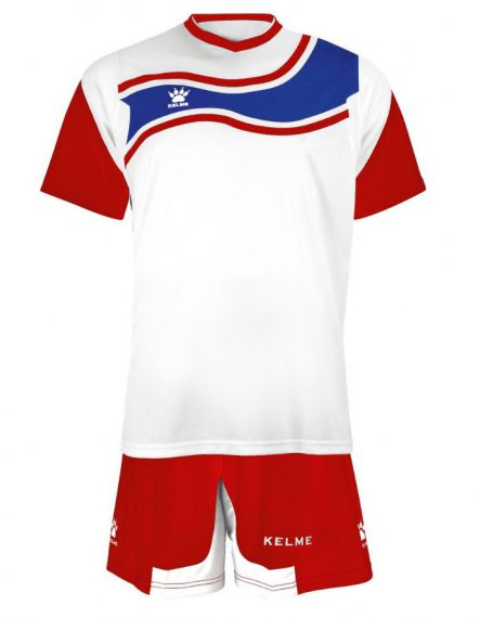 KELME Футболен екип Suriname Set JR 78417-140 White Red - Червено