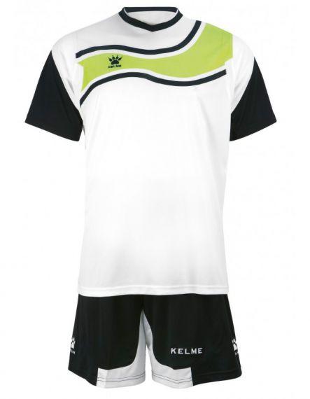 KELME Футболен екип Suriname Set JR 78417-61 White Black - Черно