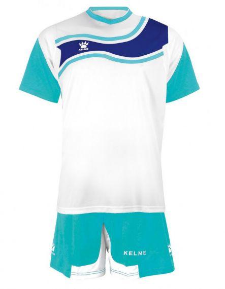 KELME Футболен екип Suriname Set JR 78417-62 White Light Blue - Синьо