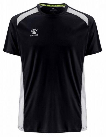 KELME Детски Тениска Millennium S/S Jersey JR 78434-138 Black White - Черно