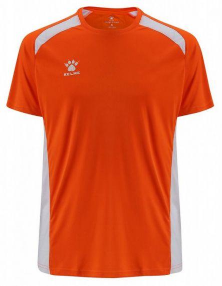 KELME Детски Тениска Millennium S/S Jersey JR 78434-209 Orange White - Оранжево