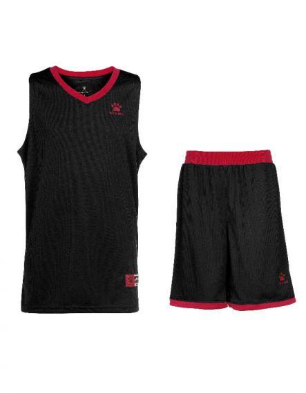 Kelme Баскетболен екип Over Set Basketball 80702-148 Black Red - Черно