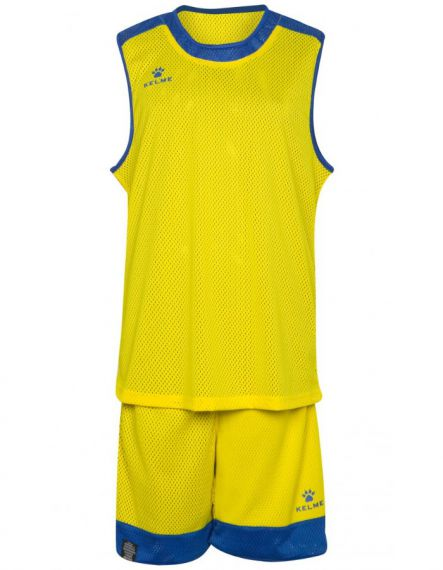 Kelme Баскетболен екип Reversible Set Basketball 80861-293 Yellow Royal - Жълто