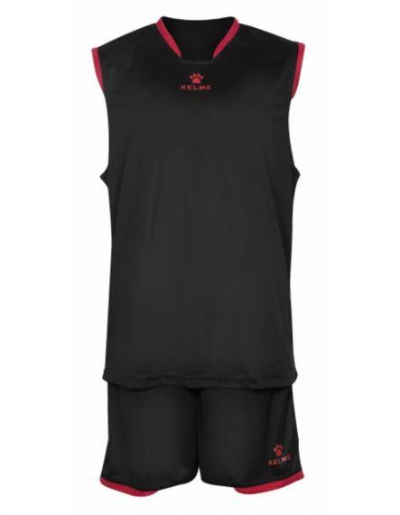 Kelme Баскетболен екип Basket Set III Sleeveless Jersey+Short 80947-26 Black - Черно