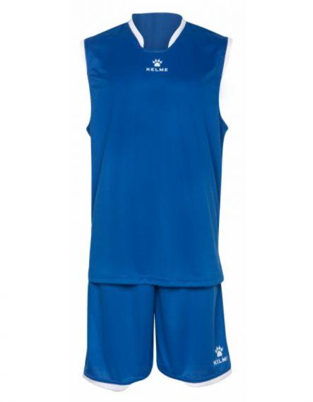 Kelme Баскетболен екип Basket Set III Sleeveless Jersey+Short 80947-703 Royal - Синьо