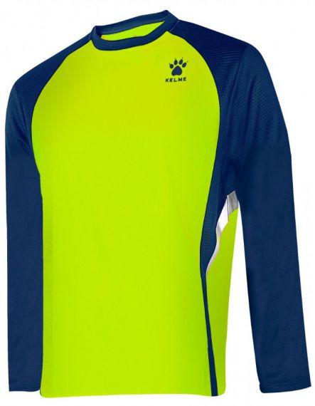 Kelme Блуза Gravity Athletics L/S Training T-Shirt 87259-665 Limon Navy - Жълто