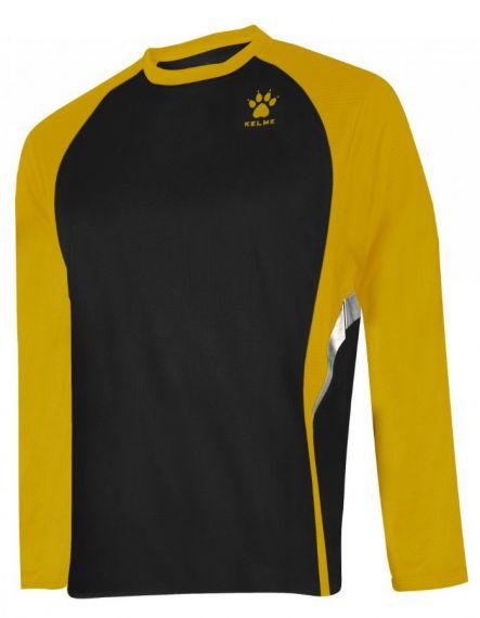 Kelme Блуза Gravity Athletics L/S Training T-Shirt 87259-91 Black Gold - Черна