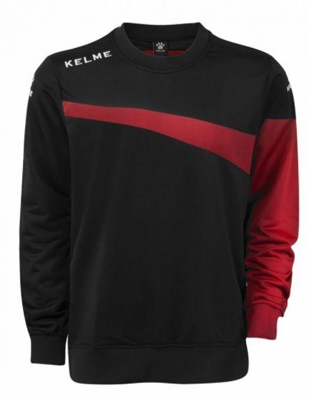 Kelme Блуза Sur Training Sweatshirt 93101-148 Black Red - Черно