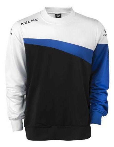 Kelme Блуза Sur Sweatshirt 93098-138 Black White - Бяла