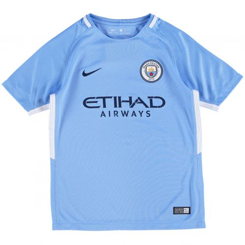 Manchester City Home Stadium Shirt 2017-18 - Kids with Fernando. R 6 printing