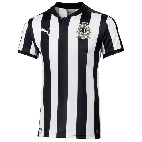 Newcastle United Home Shirt 2017-18 - Kids with Shelvey 12 printing