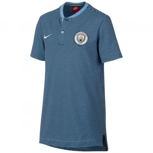 Manchester City Authentic Grand Slam Polo - Light Blue - Kids
