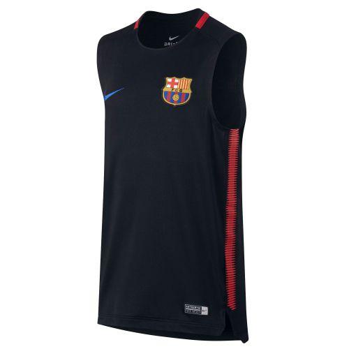 Barcelona Squad Sleeveless Training Top - Black - Kids